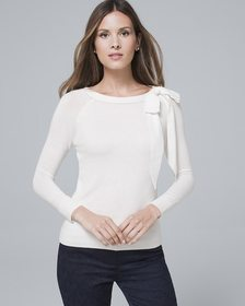 Bow-Shoulder Raglan Sweater