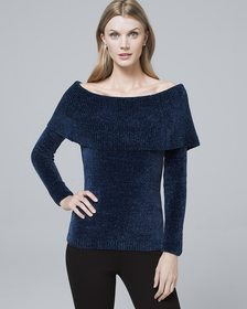 Bow-Back Chenille Sweater