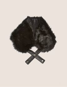 FAUX-FUR WRAP COLLAR