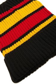 Striped Foldover Beanie