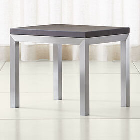 Parsons Pine Top/ Stainless Steel Base 20x24 End T