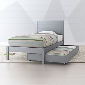 Uptown Grey Trundle Bed