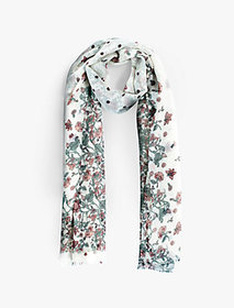Faded Floral Dot Scarf