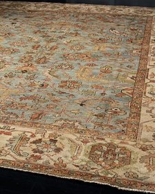 Exquisite Rugs Seaside Oushak Rug 6' x 9'