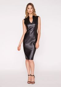 Pleather Shift Dress