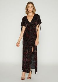 Eve Burnout Velvet Dress