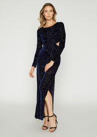 Caroline Burnout Velvet 2 Pc Dress