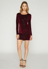 Kelly Burnout Velvet Mini Dress