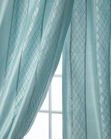 Home Silks Montana Stripe Curtain Panel 108L