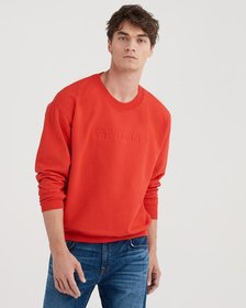 Mankind Flat Embroidery Crewneck in High Risk Red