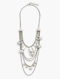 Layer Chain Bead Necklace
