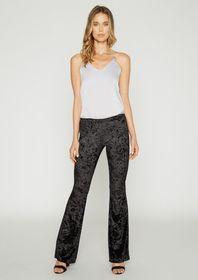 Tall Gisel Velvet Flare Leggings