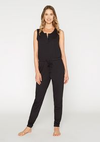 French Terry Henley Jumpsuit