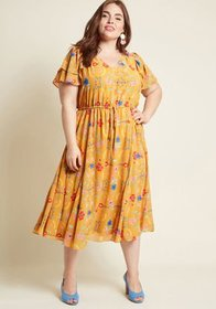 ModCloth ModCloth Awaken Your Enthusiasm Ruffled M