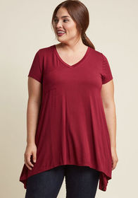 A Crush on Casual Tunic in Mulberry Merlot