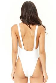 Overall-Inspired One-Piece Swimsuit