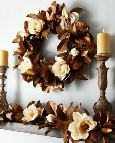 Jim Marvin Hand-Painted Magnolia Garland 5'