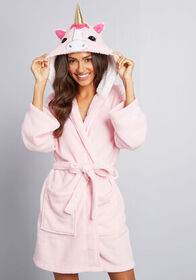 Neighs Travels Fast Unicorn Robe Pink