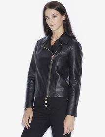 RHINESTONE LOVE SATURDAY FAUX-LEATHER MOTO