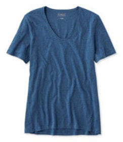 Organic Cotton Tee, Short-Sleeve U-Neck