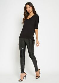 Tall Very Faux Leather Moto Pants