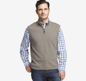 Quarter-Zip Knit Vest