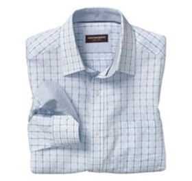 Overlock Windowpane Shirt