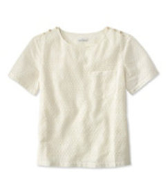 Signature Short-Sleeve Eyelet Top