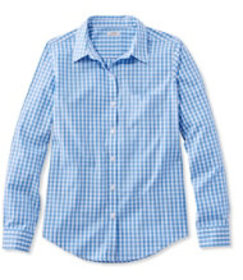 Wrinkle-Free Pinpoint Oxford Shirt, Long-Sleeve Re