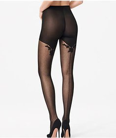 Wolford Helena Back Seam Tights