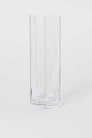 CLASSIC COLLECTION Tall Clear Glass Vase