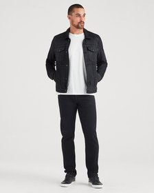 Adrien Slim Tapered with Clean Pocket in Midnight
