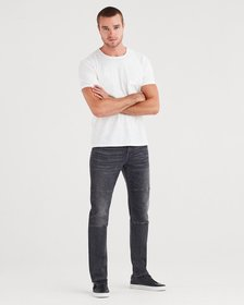 Adrien Slim Tapered with Moto Detail in Archangel