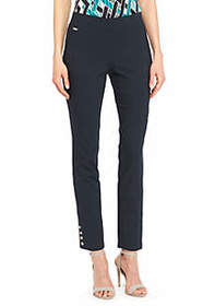 Signature Pull On Ankle Pant with Metal Snaps in E