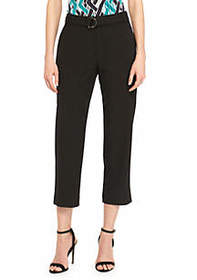 Signature Crop Pants with Fabric Belt In Modern St