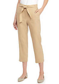 Signature Crop Pant in Linen