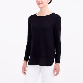 J. Crew Factory factory womens Long-sleeve top wit
