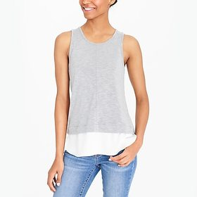 J. Crew Factory factory womens Drapey tank top wit