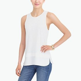 factory womens Drapey tank top with silky hem
