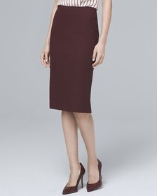 Luxe Suiting Pencil Skirt