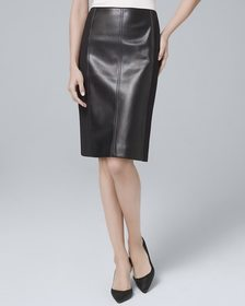 Faux Leather & Ponte Knit Boot Skirt