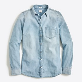 factory womens Chambray shirt in perfect fit