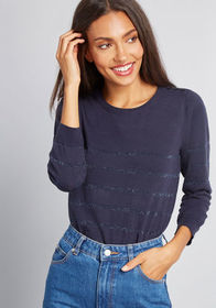ModCloth Charter School Pullover Sweater in Navy B