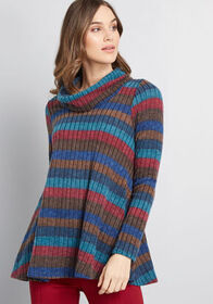 ModCloth Inviting Style Turtleneck Sweater in Mult