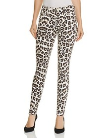 MOTHER MOTHER - High-Waist Looker Ankle Fray Leopa