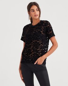 Easy Lace Top in Black