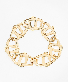 Gold-Plated Nautical Link Bracelet