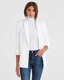 Boyfriend Blazer in Soft White