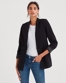 Boyfriend Blazer in Jet Black