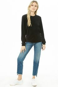 Lace-Up Velour Top